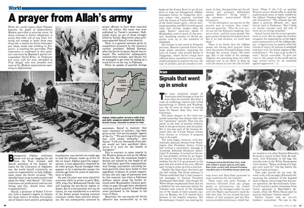 Article Preview: Signals that went up in smoke, April 1980 | Maclean's