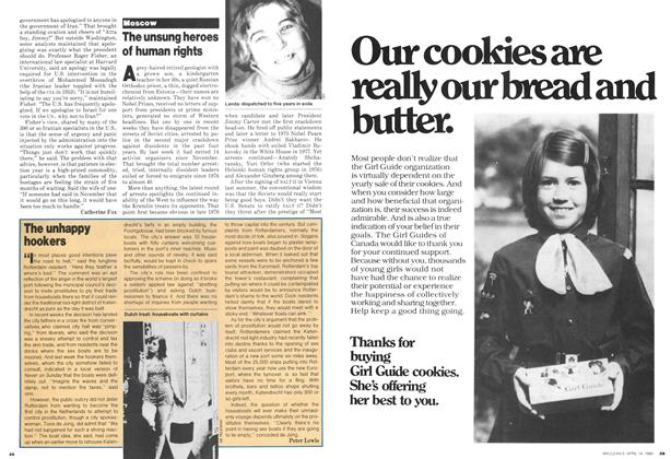 Article Preview: The unhappy hookers, April 1980 | Maclean's
