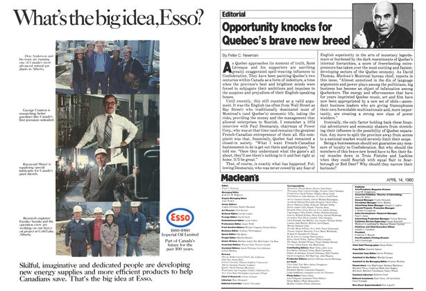 Article Preview: Opportunity knocks for Quebec's brave new breed, April 1980 | Maclean's