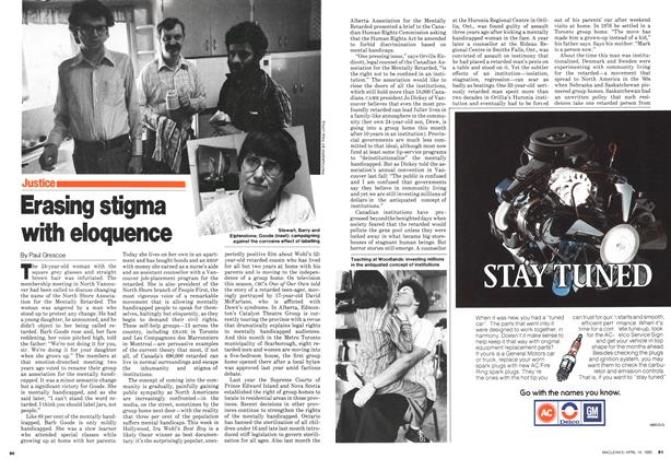 Article Preview: Erasing stigma with eloquence, April 1980 | Maclean's