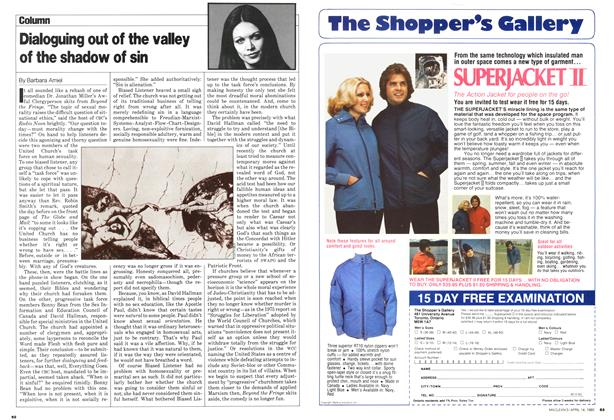 Article Preview: Dialoguing out of the valley of the shadow of sin, April 1980 | Maclean's
