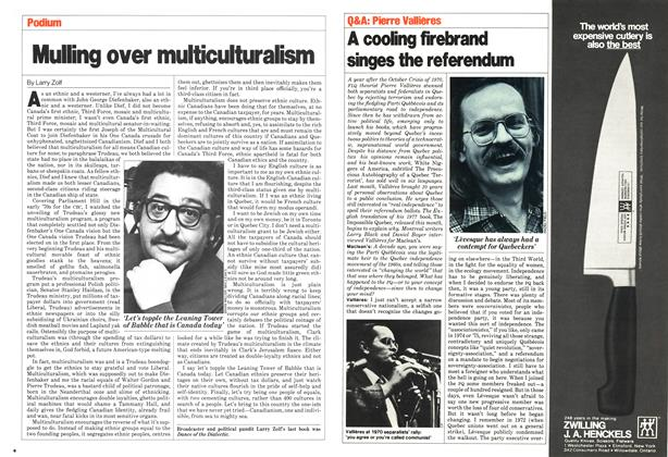 Article Preview: A cooling firebrand singes the referendum, April 1980 | Maclean's