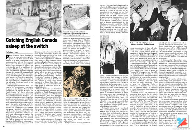 Article Preview: Catching English Canada asleep at the switch, April 1980 | Maclean's