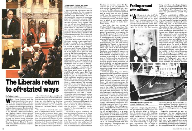 Article Preview: The Liberals return to oft-stated ways, April 1980 | Maclean's