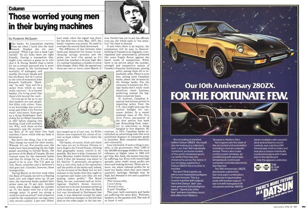 Article Preview: Those worried young men in their buying machines, April 1980   Maclean's