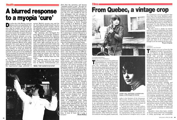 Article Preview: A blurred response to a myopia 'cure', April 1980 | Maclean's