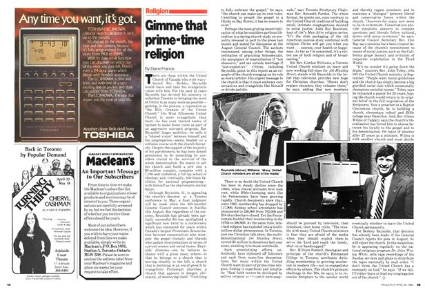 Article Preview: Gimme that prime-time religion, April 1980 | Maclean's
