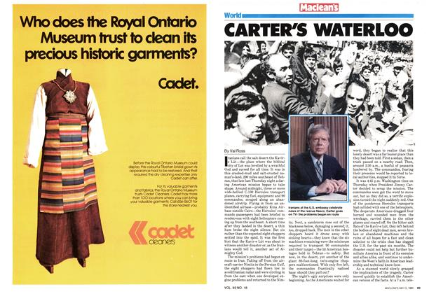 Article Preview: CARTER'S WATERLOO, May 1980 | Maclean's