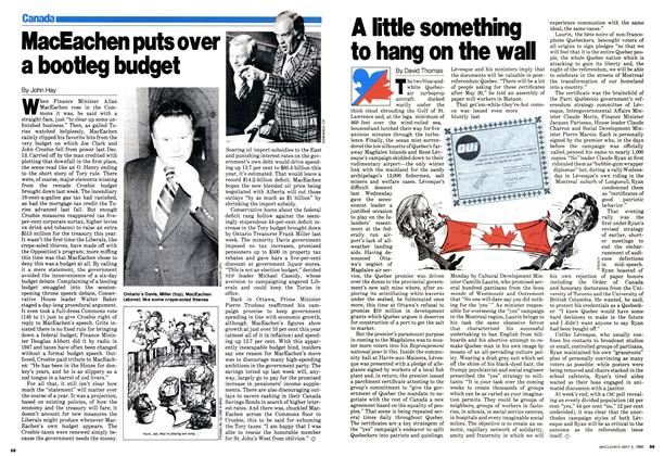 Article Preview: MacEachen puts over a bootleg budget, May 1980 | Maclean's