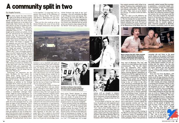 Article Preview: A community split in two, May 1980 | Maclean's