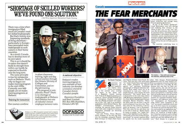 Article Preview: THE FEAR MERCHANTS, May 1980 | Maclean's