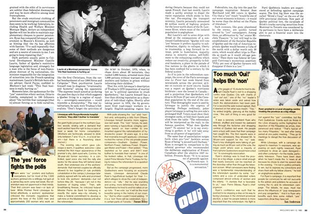 Article Preview: Too much 'Oui!' helps the 'non', May 1980 | Maclean's