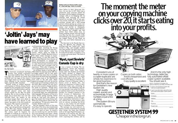 Article Preview: 'Joltin' Jays' may have learned to play, May 1980 | Maclean's