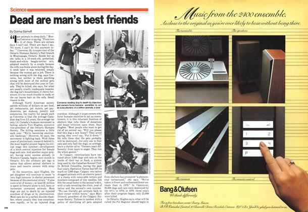 Article Preview: Dead are man's best friends, May 1980 | Maclean's