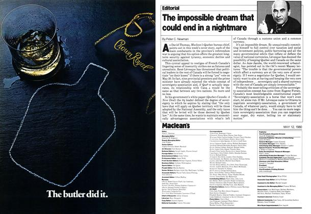 Article Preview: The impossible dream that could end in a nightmare, May 1980   Maclean's