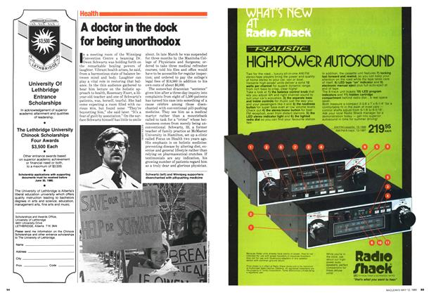 Article Preview: A doctor in the dock for being unorthodox, May 1980 | Maclean's