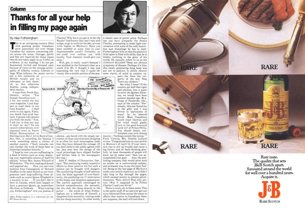 Article Preview: Thanks for all your help in filling my page again, May 1980   Maclean's