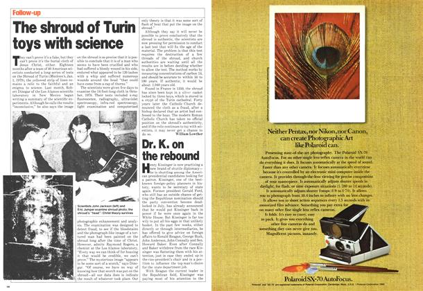 Article Preview: The shroud of Turin toys with science, May 1980 | Maclean's