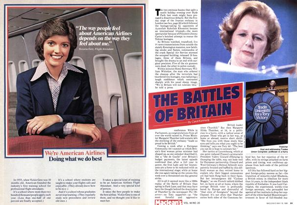 Article Preview: THE BATTLES OF BRITAIN, May 1980 | Maclean's
