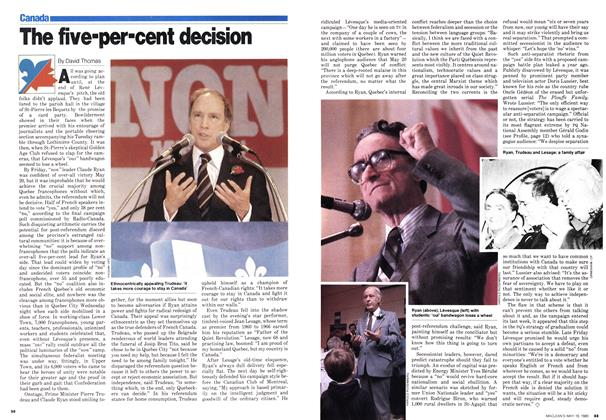 Article Preview: The five-per-cent decision, May 1980 | Maclean's