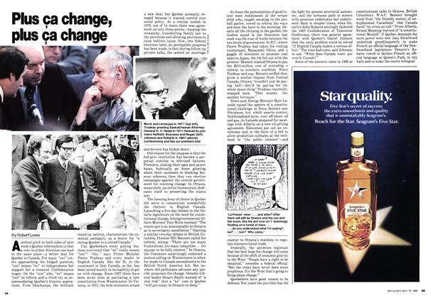 Article Preview: Plus ça change, plus ça change, May 1980 | Maclean's