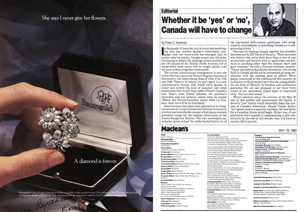 Article Preview: Whether it be 'yes' or 'no', Canada will have to change, May 1980 | Maclean's