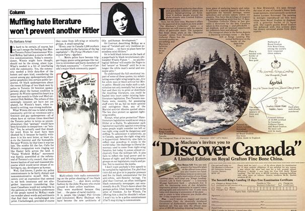 Article Preview: Muffling hate literature won't prevent another Hitler, May 1980 | Maclean's