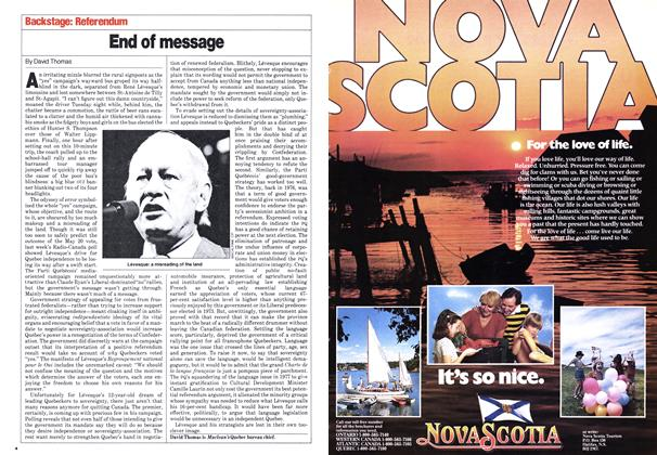 Article Preview: End of message, May 1980 | Maclean's