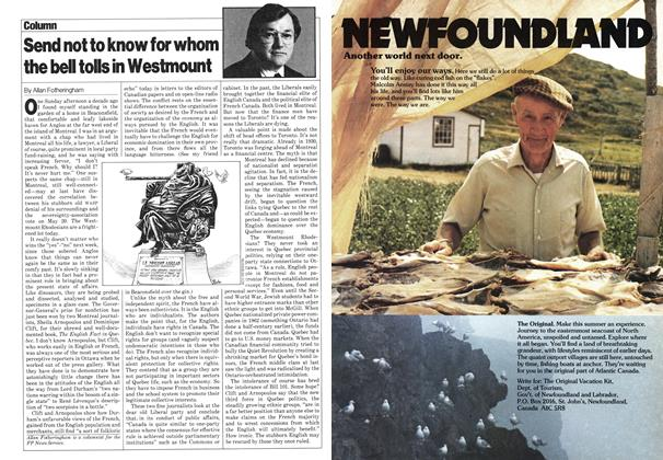 Article Preview: Send not to know for whom the bell tolls in Westmount, May 1980 | Maclean's