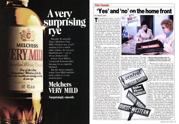 Article Preview: 'Yes' and 'no' on the home front, May 1980 | Maclean's