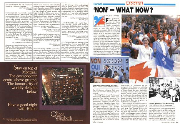 Article Preview: 'NON'—WHAT NOW?, May 1980 | Maclean's