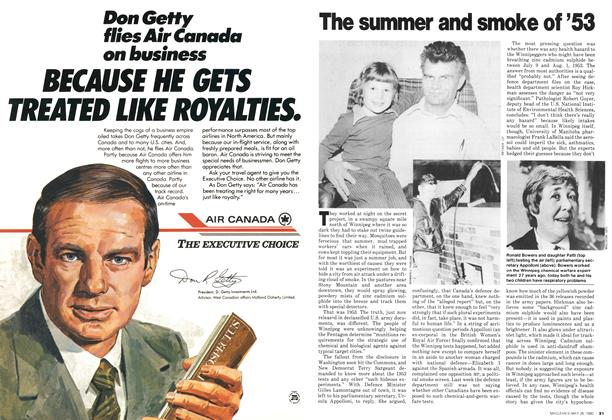 Article Preview: The summer and smoke of '53, May 1980 | Maclean's