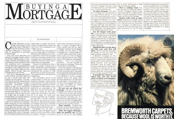 Article Preview: BUYING A MORTGAGE, May 1980 | Maclean's