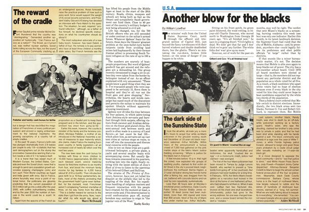 Article Preview: Another blow for the blacks, May 1980 | Maclean's