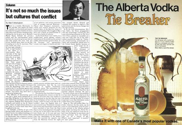Article Preview: It's not so much the issues but cultures that conflict, May 1980 | Maclean's