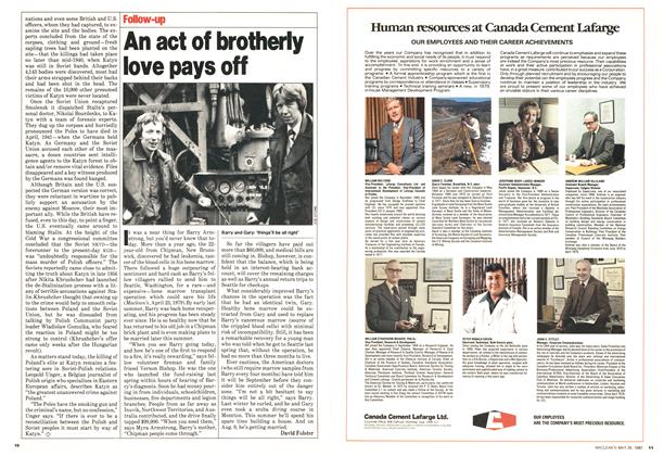 Article Preview: An act of brotherly love pays off, May 1980 | Maclean's