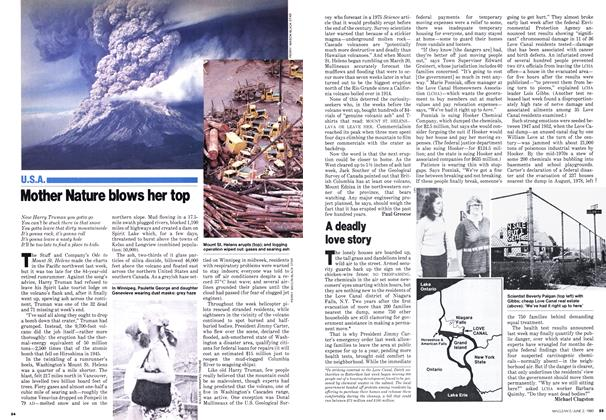 Article Preview: Mother Nature blows her top, June 1980 | Maclean's