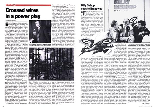 Article Preview: Crossed wires in a power play, June 1980 | Maclean's