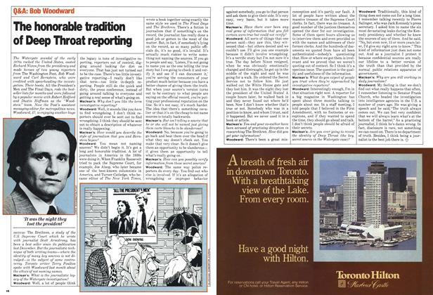 Article Preview: The honorable tradition of Deep Throat reporting, June 1980 | Maclean's