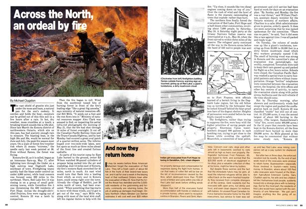 Article Preview: Across the North, an ordeal by fire, June 1980 | Maclean's