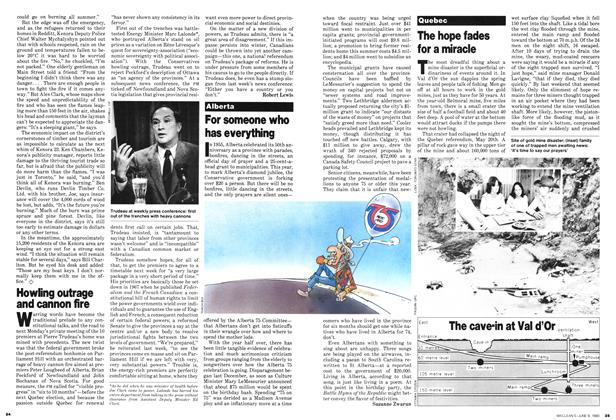 Article Preview: Howling outrage and cannon fire, June 1980 | Maclean's