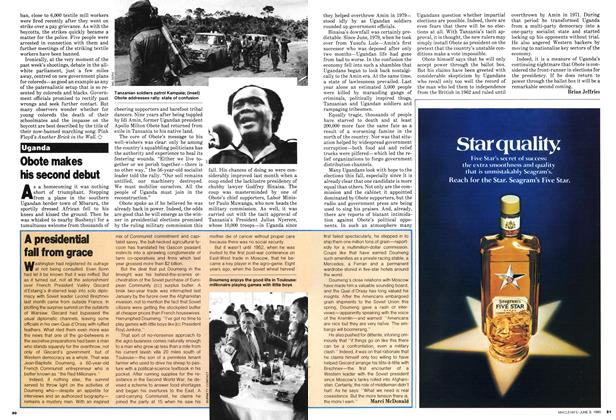 Article Preview: Obote makes his second debut, June 1980 | Maclean's