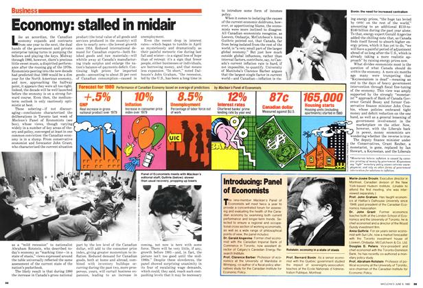 Article Preview: Economy: stalled in midair, June 1980 | Maclean's