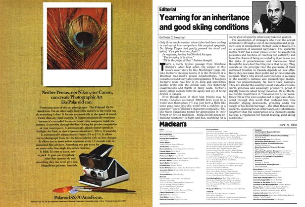 Article Preview: Yearning for an inheritance and good skiing conditions, June 1980 | Maclean's