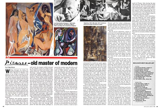 Article Preview: Picasso - old master of modem, June 1980 | Maclean's
