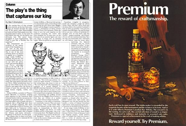 Article Preview: The play's the thing that captures our king, June 1980 | Maclean's