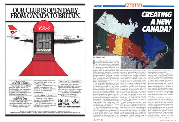 Article Preview: CREATING A NEW CANADA?, June 1980 | Maclean's