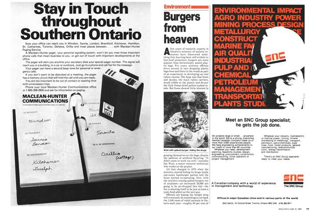 Article Preview: Burgers from heaven, June 1980 | Maclean's