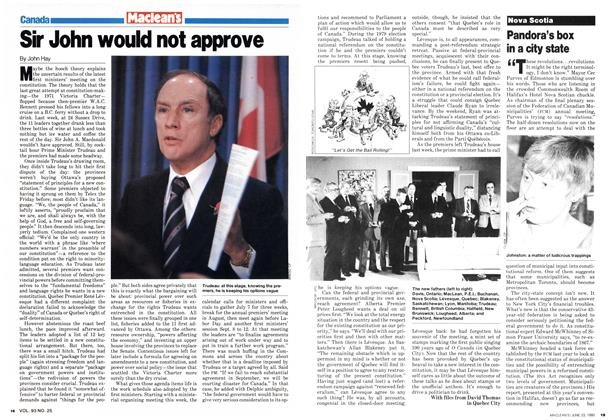 Article Preview: Sir John would not approve, June 1980 | Maclean's