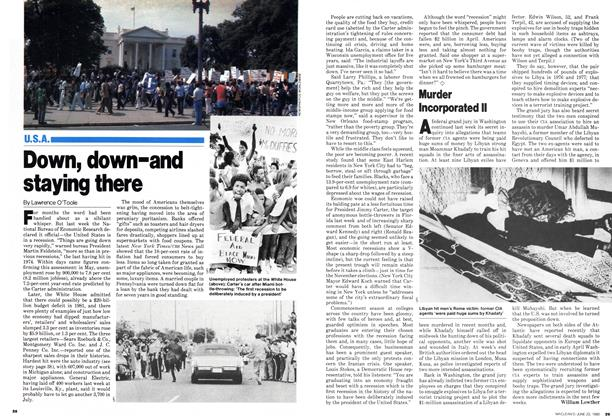 Article Preview: Down, down-and staying there, June 1980 | Maclean's